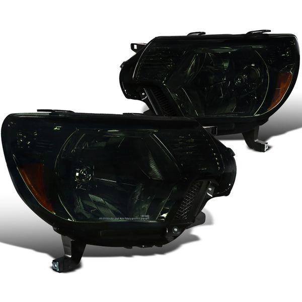 2012-2015 Toyota Tacoma Pickup Replacement Crystal Headlights - Smoked
