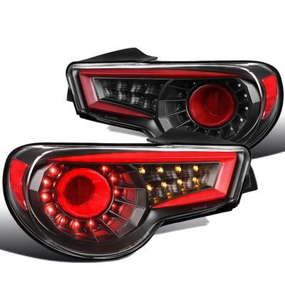 2012-2016 BRZ FRS Red Sequential LED Bar Signal Black Rear Brake Tail Lights