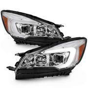 2013-2016 Ford Escape [Halogen Model] LED Light Tube Chrome Projector Headlights