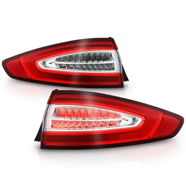 2013-2016 Ford Fusion S|SE Factory OE Style Outer LED Tail Lights - Pair