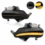 2013-2021 Lexus IS/RC LED Sequential Turn Signal Mirror Lights Smoked - Pair