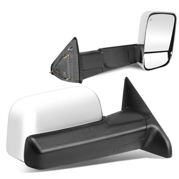 09-12 Dodge RAM 1500 / 10-12 2500 / 3500 Model Power + Heated Chrome Towing Side Mirror