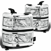 2014-15 Chevy Silverado 1500 Replacement Crystal Headlights - Chrome Clear
