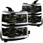 2014-15 Chevy Silverado 1500 Replacement Crystal Headlights - Smoke Clear
