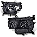 2014-16 Jeep Cherokee [Halogen Model] LED DRL Projector Headlights - Black