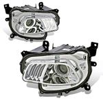 2014-16 Jeep Cherokee [Halogen Model] LED DRL Projector Headlights - Chrome