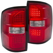 2014-2017 GMC Sierra (New Body Style) Performance LED Tail Lights - Red / Clear