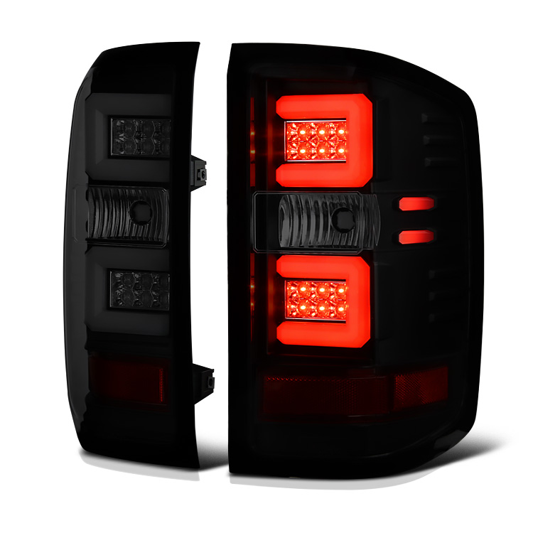 2014-2019 Chevy Silverado Performance LED-Tube Tail Lights ...