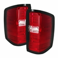 2014-2019 Chevy Silverado Performance LED-Tube Tail Lights - Red Clear