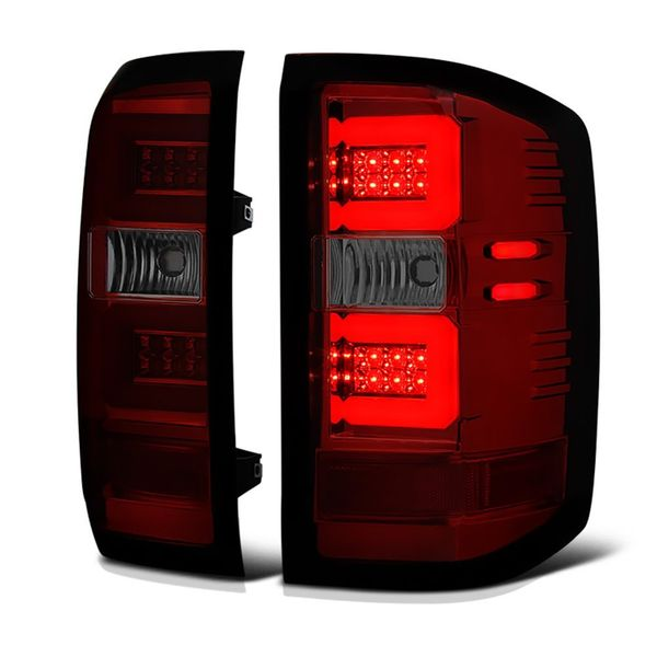 2014-2019 Chevy Silverado Performance LED-Tube Tail Lights - Red Smoked