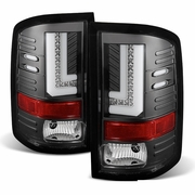 2014-2017 GMC Sierra 1500 2500 3500 HD Performance LED Tail Lights - Black