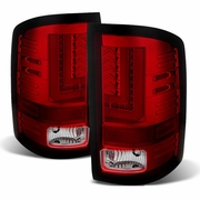 2014-2017 GMC Sierra 1500 2500 3500 HD Performance LED Tail Lights - Red Clear