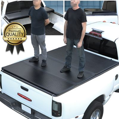 2014-2018 Chevy Silverado/Sierra 8' Bed Hard Solid Tri-Fold Clamp-On Tonneau Cover