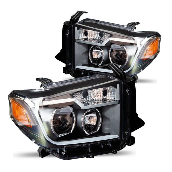 2014-2018 Toyota Tundra Optic Style DRL With Sequential LED Signal Projector Headlights By Winjet