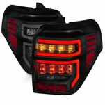 2014-2019 Toyota 4Runner Optic-Style LED Tail Lights - Black