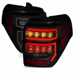 2014-2019 Toyota 4Runner Optic-Style LED Tail Lights - Black / Smoked Lens