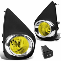 2015-16 Toyota Yaris [Hatchback Only] Front Bumper Fog Lights Kit (Amber Lens)