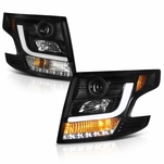 2015-17 Chevy Tahoe / Suburban [Halogen model] LED DRL Projector Headlights - Black