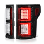 2015-17 Ford F150 F-150 LED Tube Performance Tail Lights - Black
