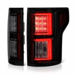 2015-17 Ford F150 F-150 LED Tube Performance Tail Lights - Black Smoked
