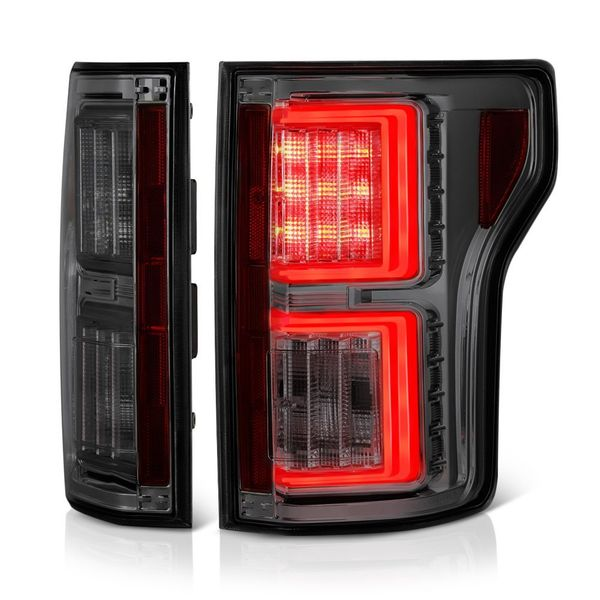 2015-17 Ford F150 F-150 LED Tube Performance Tail Lights - Smoked