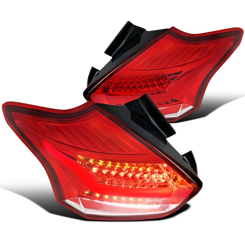 Ford Focus Hatchback Optic Led Tail Lights Red Click To Enlarge