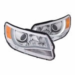 2015-2017 Chevrolet Colorado [Halogen Model] LED DRL Projector Headlights - Chrome
