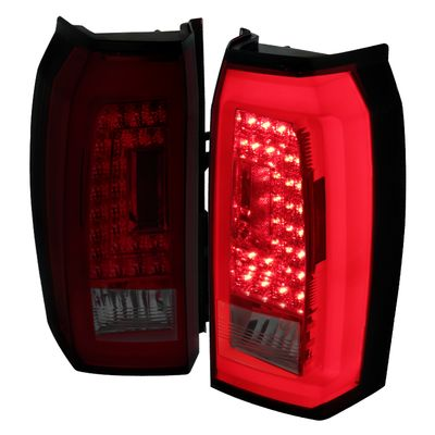 2015-2018 Chevy Tahoe / Suburban LED Tail Lights - Red Smoked