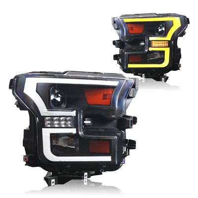2015-2017 Ford F-150 Projector Headlights with LED DRL Light Bar / Switchback Sequential Signal By Winjet