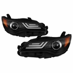 2015-2017 Toyota Camry LED DRL Tube Projector Headlights - Black