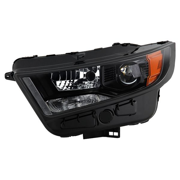 2015-2018 Ford Edge [HID Model] Factory-Style Black Projector Headlight - Driver Left