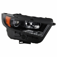 2015-2018 Ford Edge [HID Model] Factory-Style Black Projector Headlight - Passenger Right