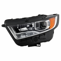 2015-2018 Ford Edge [HID Model] Factory-Style Chrome Housing Projector Headlight - Driver Left