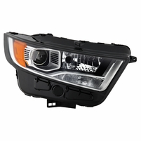 2015-2018 Ford Edge [HID Model] Factory-Style Chrome Housing Projector Headlight - Passenger Right