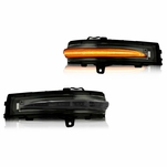 2015-2018 Ford Edge Side Mirror LED Sequential Turn Signal Blinker Lights - Smoked Lens