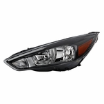 2015-2018 Ford Focus [Factory LED DRL] Black Housing Headlights - Left Driver