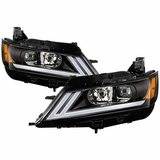 2015-2019 Chevy Impala LED DRL Switchback Turn Signal Black Housing Projector Headlights