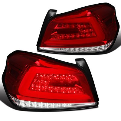 2015-2019 Subaru WRX/WRX STI Sequential LED Red Brake Tail Lights Left+Right