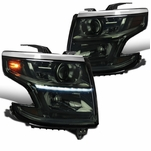 2015-2020 Chevy Tahoe / Suburban LED DRL Projector Headlights - Smoked Lens