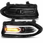 2015-2020 Dodge Charger Dual LED Tube Square Beam Projector Headlights