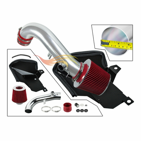 2015-2020 VW Golf GTi R 1.8T 2.0T Cold Air Intake Kit with Filter +Heat Shield - Red