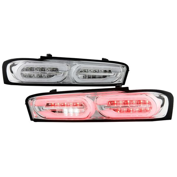 2016-2018 Chevy Camaro [Factory Incandescent Model] Full LED Sequential Signal Tail Lights - Chrome