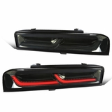 2016-2018 Chevy Camaro Optic-Style LED Tail Lights Sequential Signal - Smoked