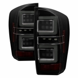 2016-2018 Toyota Tacoma Full LED Tube Tail Lights - Black Smoked