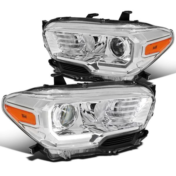 2016-2018 Toyota Tacoma Projector Headlights w/ LED Strip