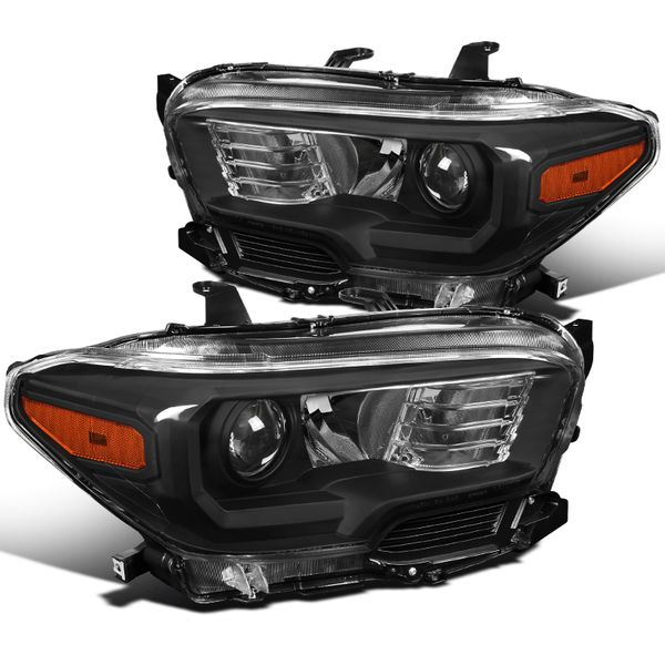 2016-2018 Toyota Tacoma Replacement Balck Projector Headlights w/o LED DRL