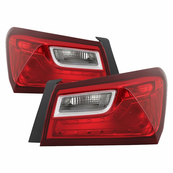 2016-2019 Chevy Malibu Non-LED Tail Lights Lamps Outer Pair Left+Right