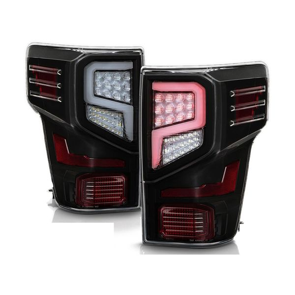 2016-2019 Nissan Titan / Titan XD Full-LED Optic Style Tail Lights - Black