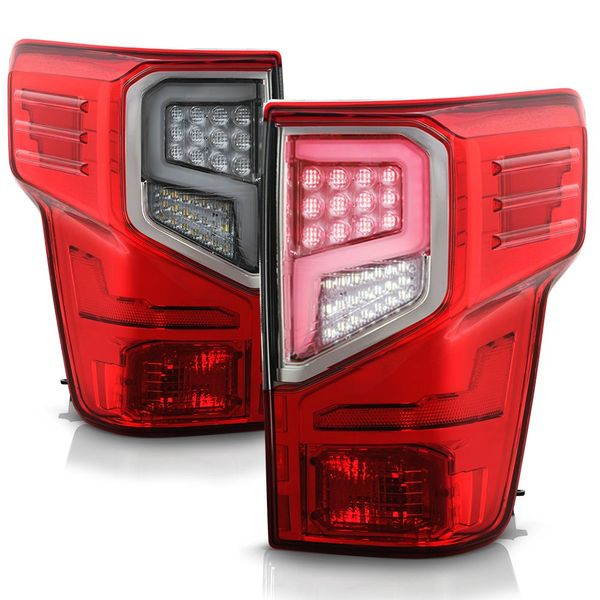 2016-2019 Nissan Titan / Titan XD Full-LED Optic Style Tail Lights - Red Clear