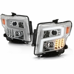 2016-2019 Nissan Titan / XD [Halogen Model] LED DRL Projector Headlights - Chrome